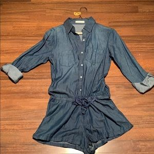 "Lightweight ""denim"" romper"